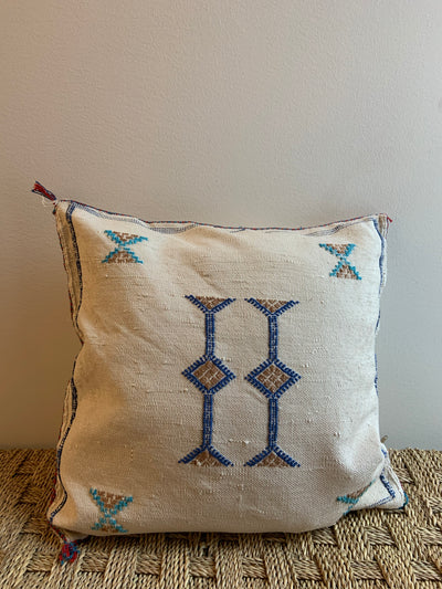 bohemian cactus silk pillow