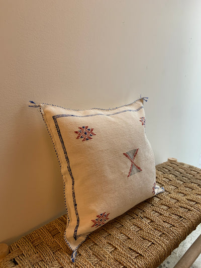 eclectic beige pillow