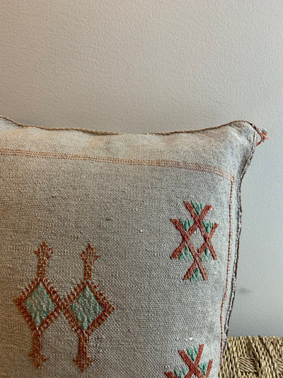 gray boho handmade pillow