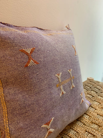 purple bohemian cushion