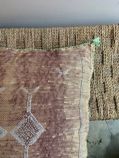 brown cactus silk pillow