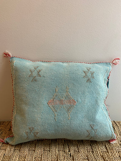 square moroccan cactus silk cushion
