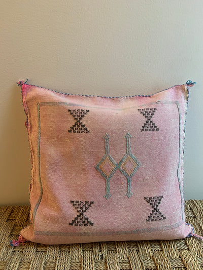 square moroccan throw pillow