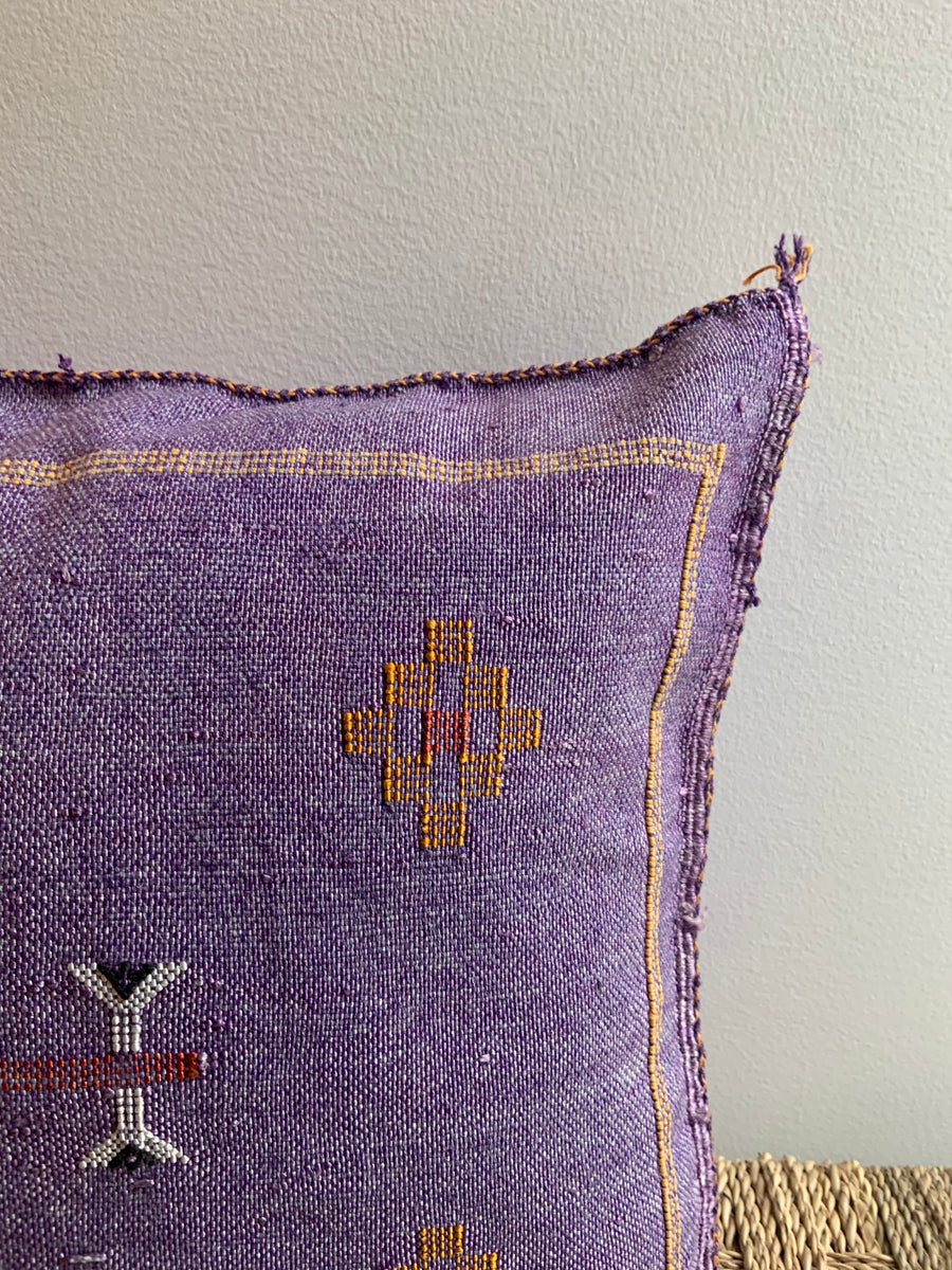 purple decorative pillow