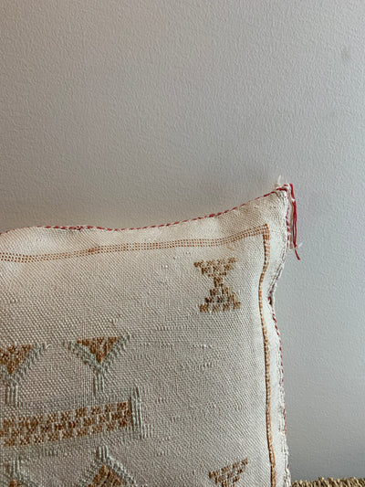 beige bohemian cushion