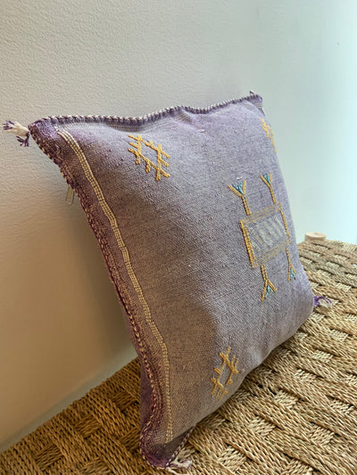 violet cactus silk pillow