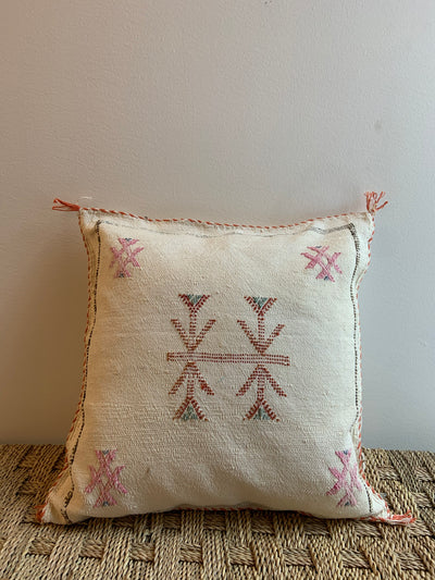 beige cactus silk pillow