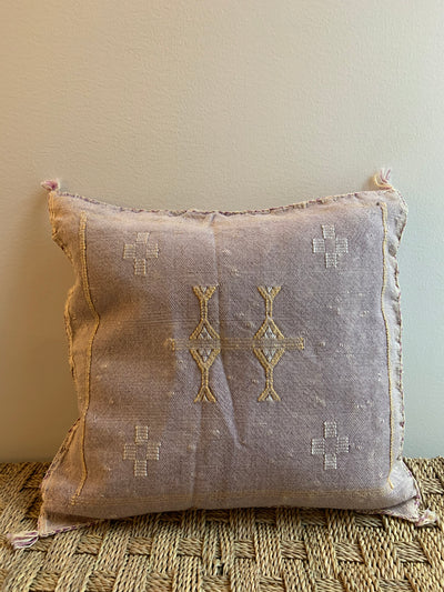 lilac decorative pillow