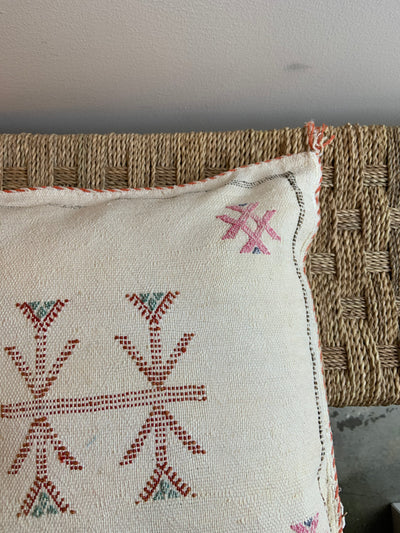 beige moroccan pillow