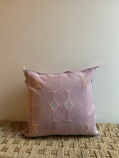 pastel purple throw pillow