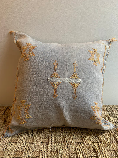 square gray sabra pillow