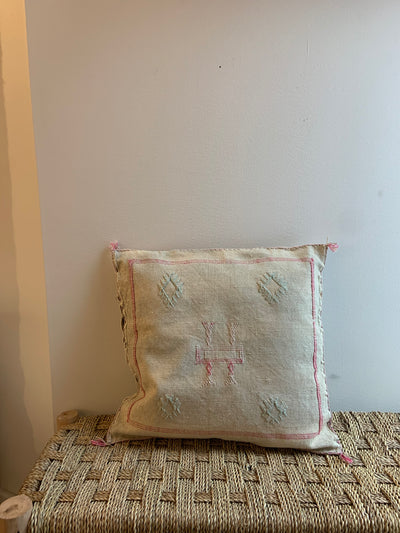 square handmade throw pillow