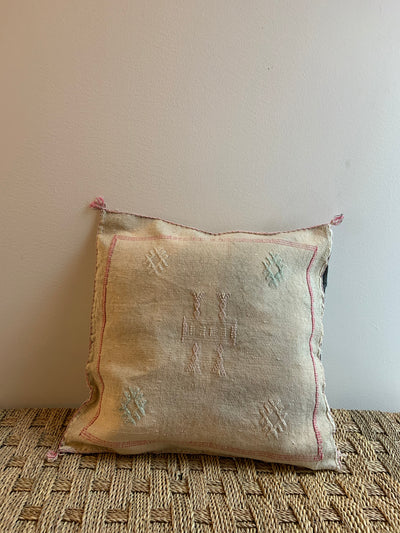 square beige boho pillow