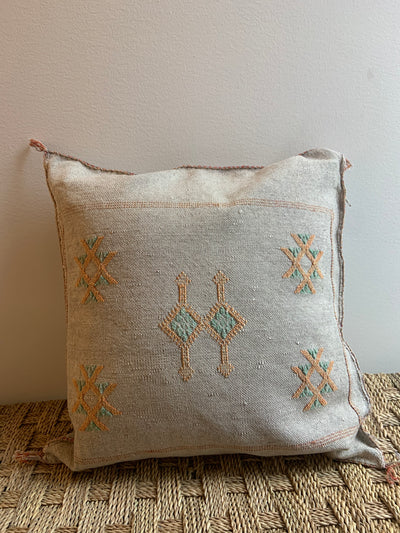 light gray moroccan cushion