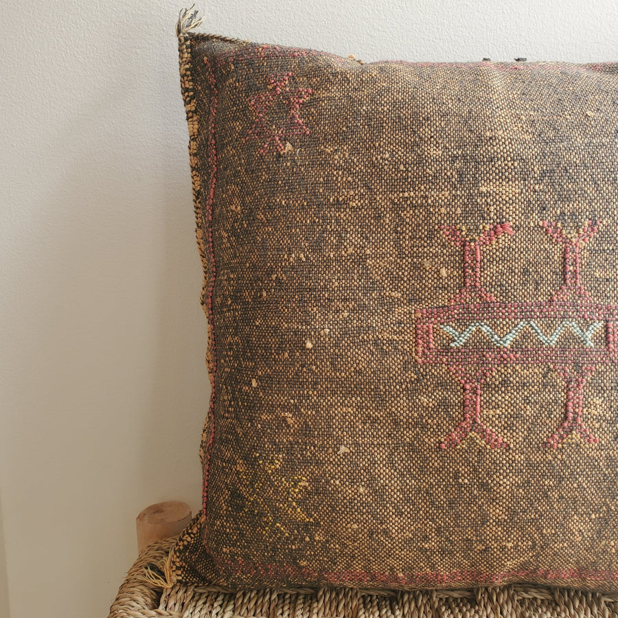 cactus silk pillow, sabra cushion, decorative pillow