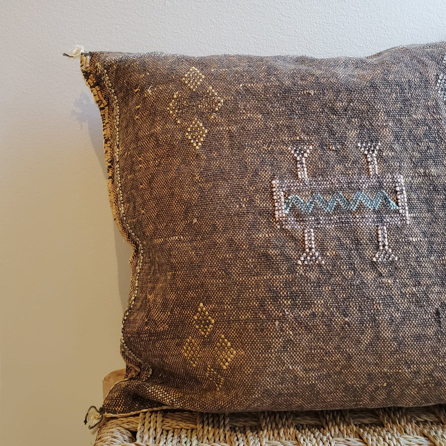 cactus silk pillow, sabra cushion, bohemian decorative pillow