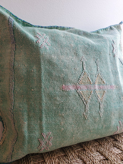 cactus silk pillow, sabra cushion, bohemian decorative pillow, moroccan design