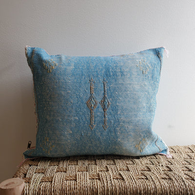 cactus silk pillow, sabra cushion, bohemian decorative pillow, moroccan geometric design