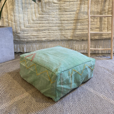 green cactus silk cotton dog bed