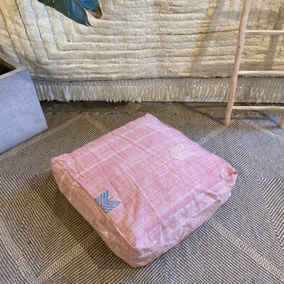 pink cactus silk floor cushion