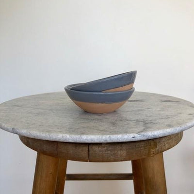 small charcoal terracota bowl