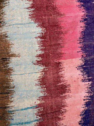 blue pink brown and blue stripes