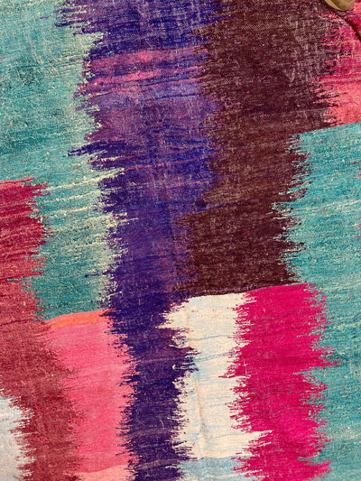 colorful details on soft boucherouite carpet