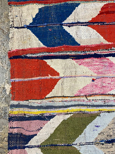 colorful boucherouite area rug