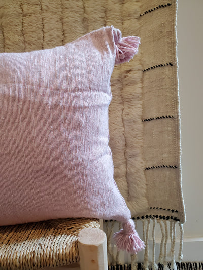 pink moroccan pillow case, organic cotton cushion cover