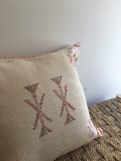 off white bohemian pillow