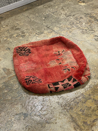 red boho vintage floor pillow
