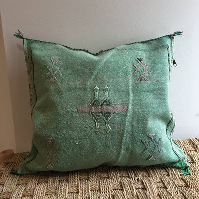 green moroccan sabra pillow