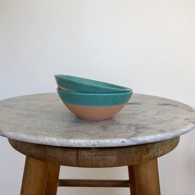 small blue terracota bowl