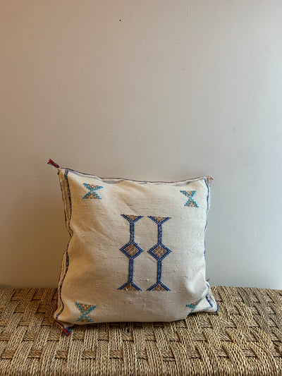 beige moroccan decorative pillow