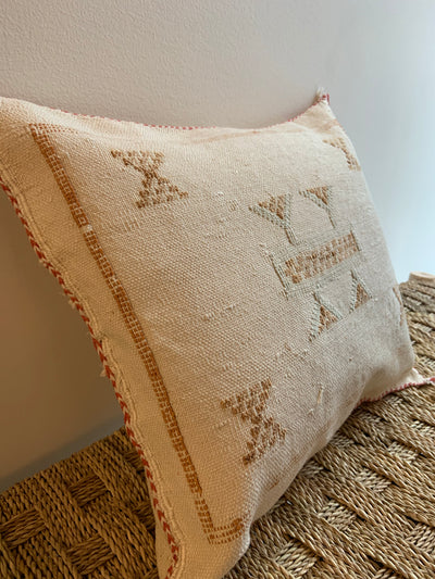beige handmade throw pillow