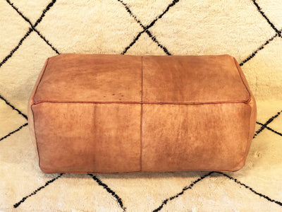 Long Leather Ottoman