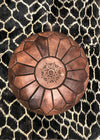 foot rest brown leather morocco the boho lab
