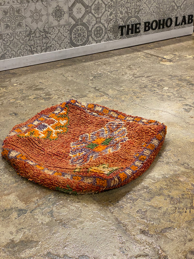 square vintage moroccan floor pillow