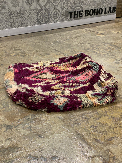 square vintage moroccan floor cushion