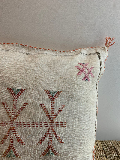 beige eclectic pillow