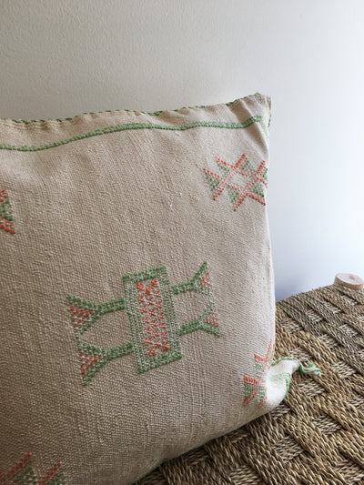 ivory square moroccan pillow