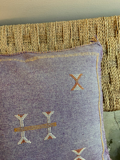 moroccan purple pillow