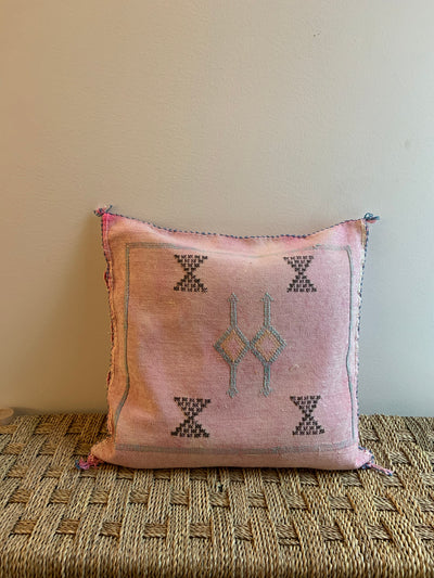 bohemian soft pink pillow