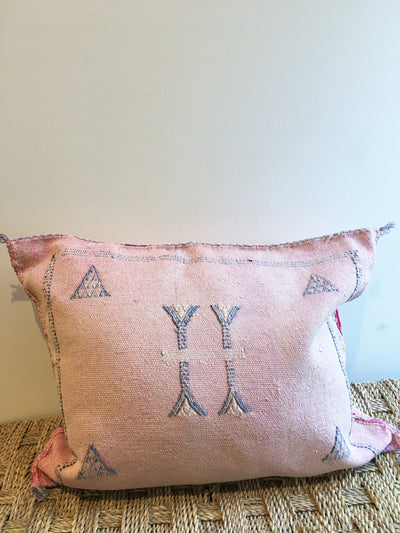 light pink cactus silk cushion