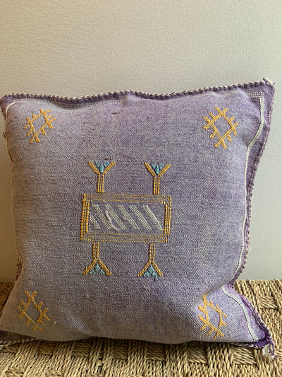 square lilac decorative pillow