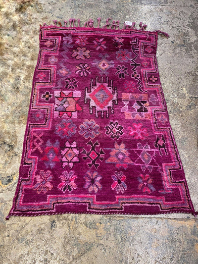 purple traditional vintage moroccan rug