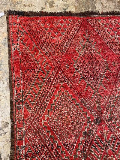 bohemian red large vintage rug,living room carpet,moroccan diamond design