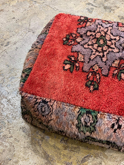 vintage ottoman, floor cushion, moroccan pouf, wool floor pillow, dog bed