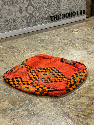 orange bohemian floor pillow