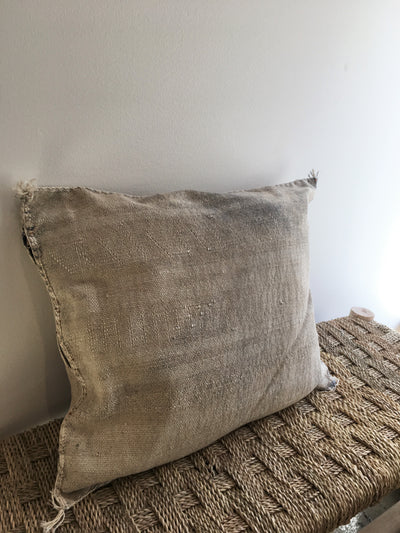 gray bohemian square pillow